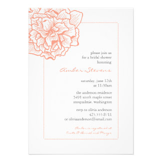 Delicate Peony Shower/Party Invitation