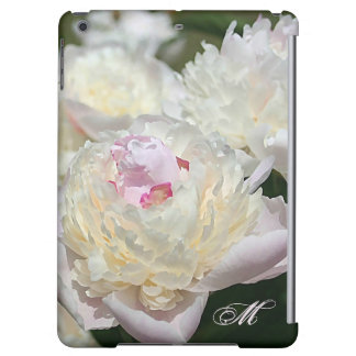 Delicate Peony Watercolor in Pink and White Cover For iPad Air