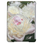 Delicate Peony Watercolor in Pink and White iPad Air Case