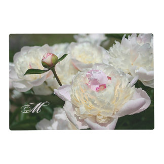 Delicate Peony Watercolor Pink, White and Yellow Placemat