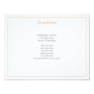 Delicate Peony Wedding Insert 4.25x5.5 Paper Invitation Card