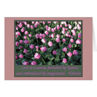 Delicate Pink and lilac Tulips Card