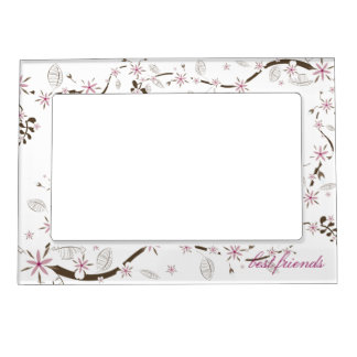 Delicate Pink and White Blossoms Magnetic Frames