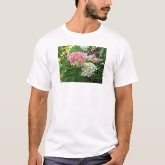 Delicate Pink and White Hydrangea T-Shirt