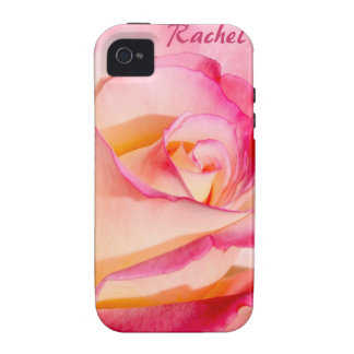 Delicate Pink and Yellow Rose Vibe iPhone 4 Case