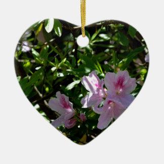 Delicate Pink Azaleas Ceramic Ornament