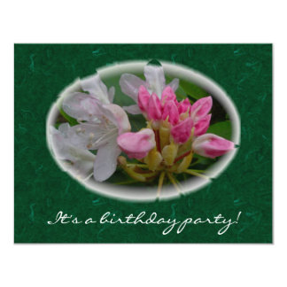 Delicate Pink Azaleas Surprise Birthday Party Card