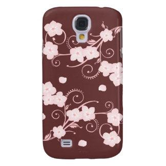 Delicate Pink Cherry Blossom Swirls Samsung S4 Case