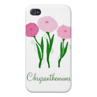 Delicate Pink Chrysanthemums iPhone 4 Cover
