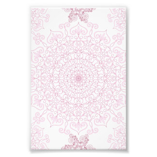 Delicate Pink Doily Pattern Photograph
