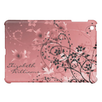Delicate Pink Floral  Case For The iPad Mini