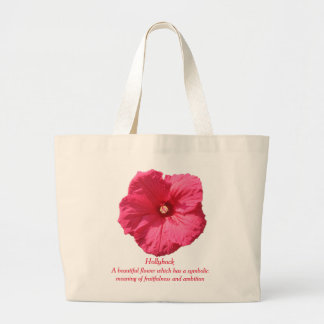 Delicate Pink Hollyhock-Fruitfulness and Ambition Jumbo Tote Bag