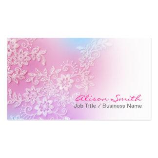 Delicate pink lassos business card