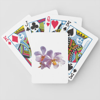 Delicate Pink Orchids Bicycle Playing Cards