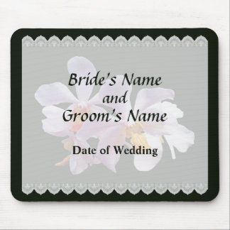 Delicate Pink Orchids Wedding Favors Mouse Pad