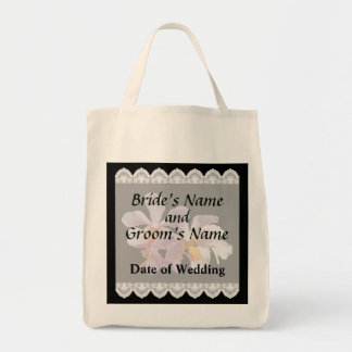 Delicate Pink Orchids Wedding Favors Tote Bag