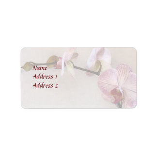 Delicate Pink Phalaenopsis Orchid Wedding Products Label