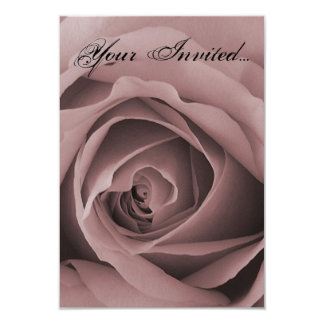 Delicate Pink Rose Invitation Card