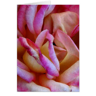 Delicate Pink Rose Watercolor Photo Art Card