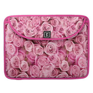 Delicate Pink Roses Floral Photo Pattern Sleeve For MacBooks