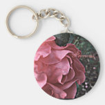 Delicate Pink Roses Over Footpath Photograph Key Chains