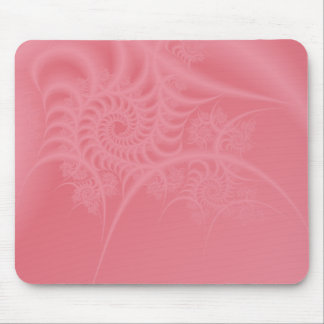 Delicate Pink Spiral Lace Mousepad