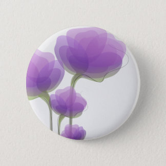 Delicate Purple Abstract Flowers Button