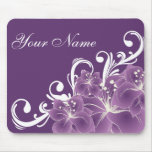 Delicate Purple and White Flowers Mouse Pad