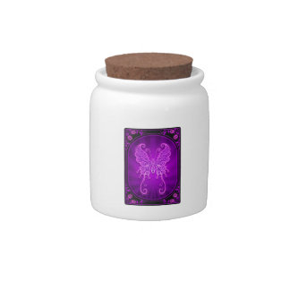 Delicate Purple Butterfly Poster Candy Jars