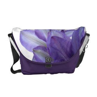 Delicate Purple-Floral Messenger Bags