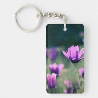 Delicate Purple Flowers Keychain