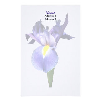 Delicate Purple Iris Wedding Products Stationery