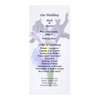 Delicate Purple Iris Wedding Program