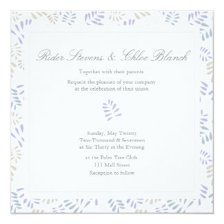 Delicate Purple Leaves Wedding Collection Card