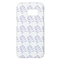 Delicate Purple Leaves Wedding Collection Samsung Galaxy S7 Case