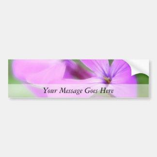 Delicate Purple Lunaria Flowers Bumper Sticker
