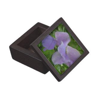 Delicate Purple Sweet Pea Jewelry Box