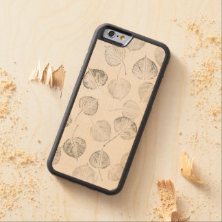 Delicate Quaking Aspen Tree Leaf Prints Carved Maple iPhone 6 Bumper Case