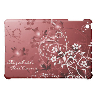 Delicate Red Floral  iPad Mini Cover