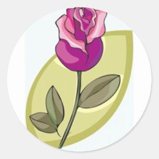 Delicate Rose Classic Round Sticker