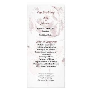 Delicate Rose Cutout Wedding Program