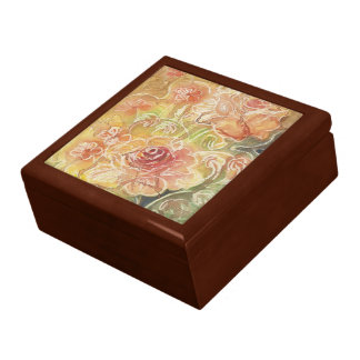 Delicate Rose Floral Jewelry Boxes