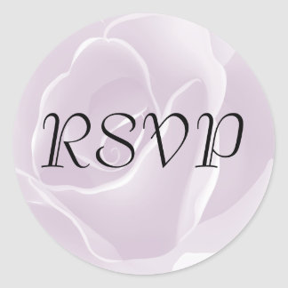 Delicate Rose Fresh Floral RSVP Stickers