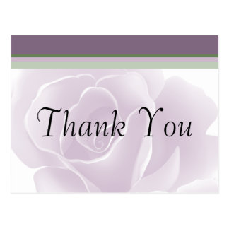 Delicate Rose Fresh Floral Thank You Postcards