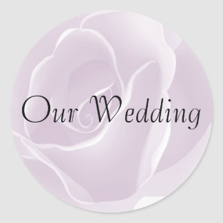 Delicate Rose Fresh Floral Wedding Stickers