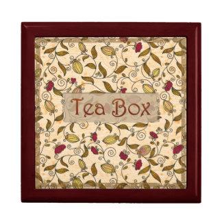 Delicate Scrolls Tea Box