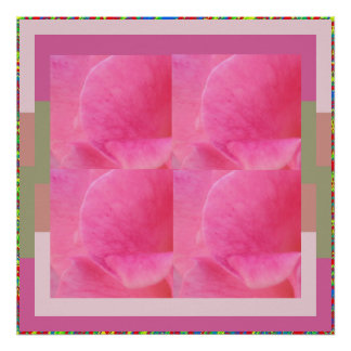 Delicate Sensual Rose Petal Presentation Poster