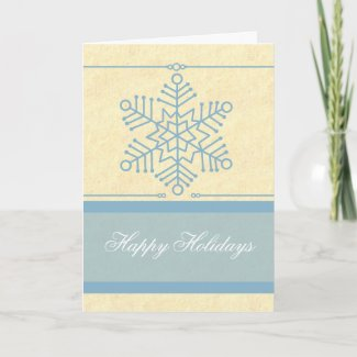 Delicate Snowflake Christmas Card card