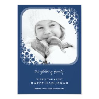 Delicate Snowflakes Hanukkah Greetings Photo Card