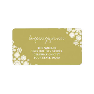 Delicate Snowflakes Winter Holiday Address Labels
